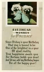 BIRTHDAY WISHES FOR FRIDAY inset two pekingese puppies