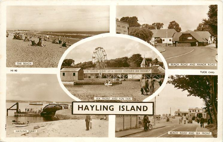 5 insets THE BEACH/BEACH ROAD AND MANOR ROAD/SEA FRONT AND FUN FAIR/HAYLING FERRY/BEACH ROAD AND SEA FRONT
