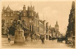 HIGH STREET statue on left