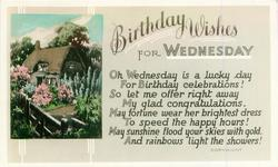 BIRTHDAY WISHES FOR WEDNESDAY inset  house &  garden view