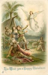 TO WISH YOU A HAPPY CHRISTMAS  shepherds see vision of angel