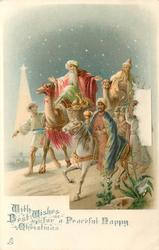 WITH BEST WISHES FOR A PEACEFUL HAPPY CHRISTMAS  three kings travel left