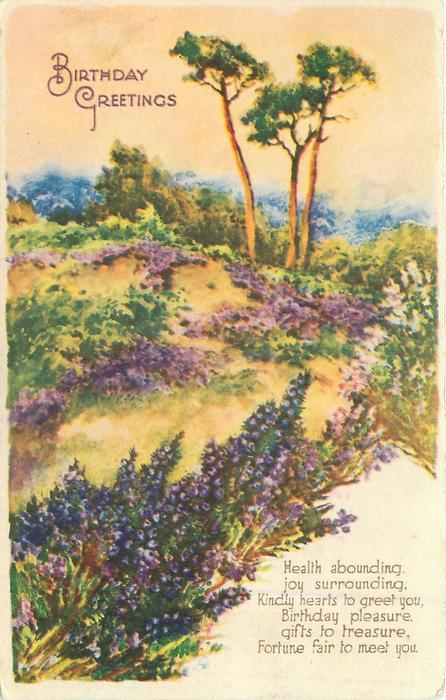 BIRTHDAY GREETINGS  heather & pines