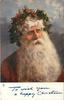 TO WISH YOU A HAPPY CHRISTMAS head  & shoulders of deep red robed Santa with large beard
