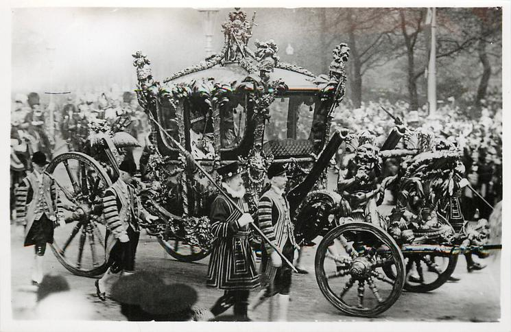 THE KING AND QUEEN IN THE CORONATION COACH AFTER THE CORONATION OF THEIR MAJESTIES