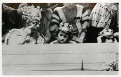H.M. QUEEN MARY AND T.R.H. THE PRINCESSES ELIZABETH AND MARGARET ROSE...