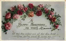 A HAPPY BIRTHDAY TO YOU  arch of roses