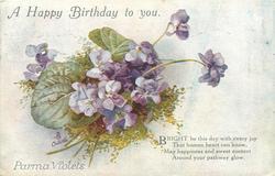 A HAPPY BIRTHDAY TO YOU, PARMA VIOLETS