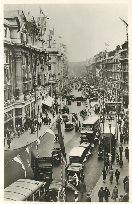 LONDON'S JUBILEE DECORATIONS,  REGENT STREET