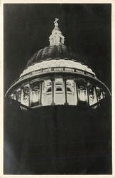 THE DOME OF ST. PAUL'S BY FLOODLIGHT