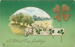 ST. PATRICK'S DAY GREETINGS  view inset, trees left