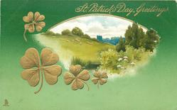 ST. PATRICK'S DAY GREETINGS  view inset, trees right