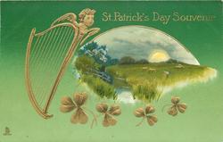 ST. PATRICK'S DAY SOUVENIR  view inset, harp