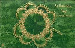 ST. PATRICK'S DAY SOUVENIR  4 leaved clover