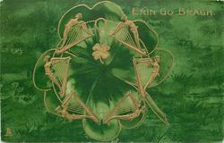 ERIN GO BRAGH   4 leaved clover