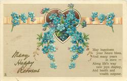 MANY HAPPY RETURNS  forget-me-nots