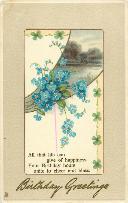 BIRTHDAY GREETINGS  forget-me-nots