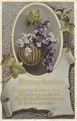 BIRTHDAY GREETINGS  lilac
