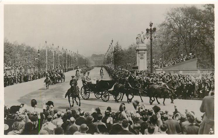 THE KING AND QUEEN ON THE RETURN DRIVE TO BUCKINGHAM PALACE...JUBILEE