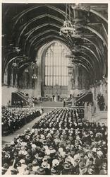 THE HISTORIC SCENE IN WESTMINSTER HALL...JUBILEE