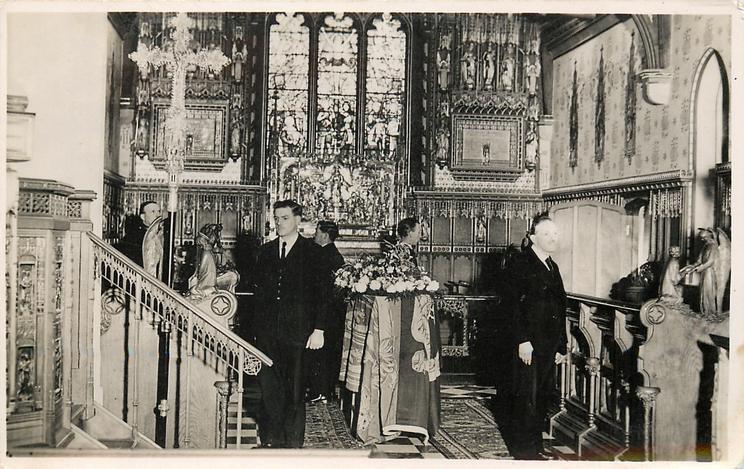 KING GEORGE V LYING IN STATE IN THE CHURCH OF ST. MARY MAGDALENE, SANDRINGHAM