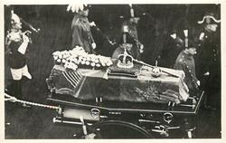 THE ROYAL COFFIN WITH ITS INSIGNIA OF MAJESTY