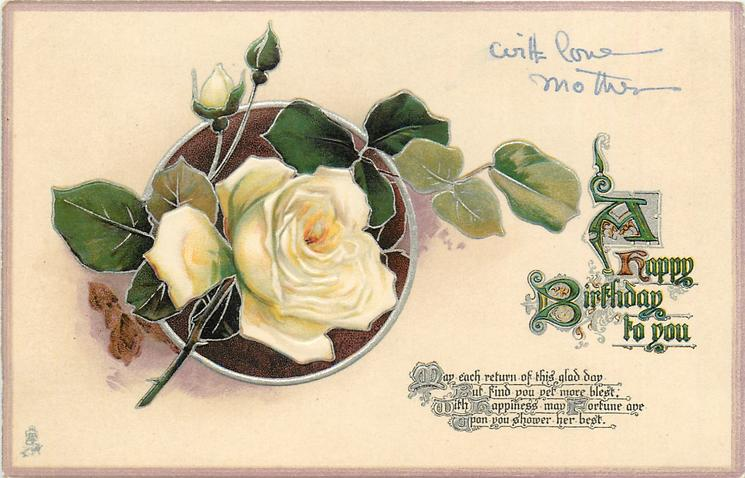 A HAPPY BIRTHDAY TO YOU  rose & buds