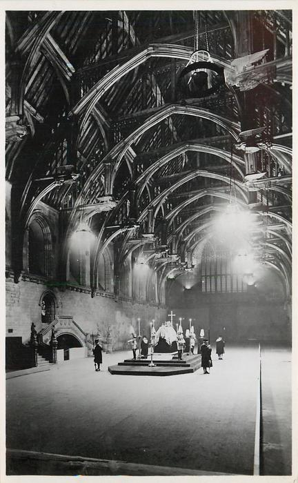 THE LYING IN STATE OF KING GEORGE V IN WESTMINSTER HALL... IN LIFE