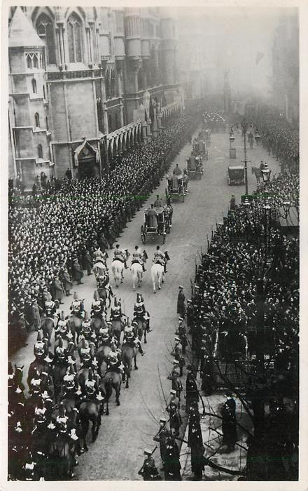 THE EARL MARSHAL'S AND HERALDS' PROCESSION ARRIVING AT TEMPLE BAR...1936