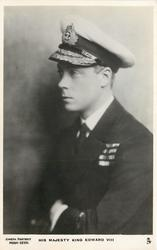 H.R.H. THE DUKE OF WINDSOR or HIS MAJESTY KING EDWARD VIII  above waist uniformed study facing left