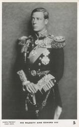 H.R.H. THE DUKE OF WINDSOR or HIS MAJESTY KING EDWARD VIII  hands on sword hilt, looking left