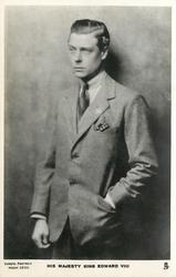 H.R.H. THE DUKE OF WINDSOR or HIS MAJESTY KING EDWARD VIII  left hand in jacket pocket