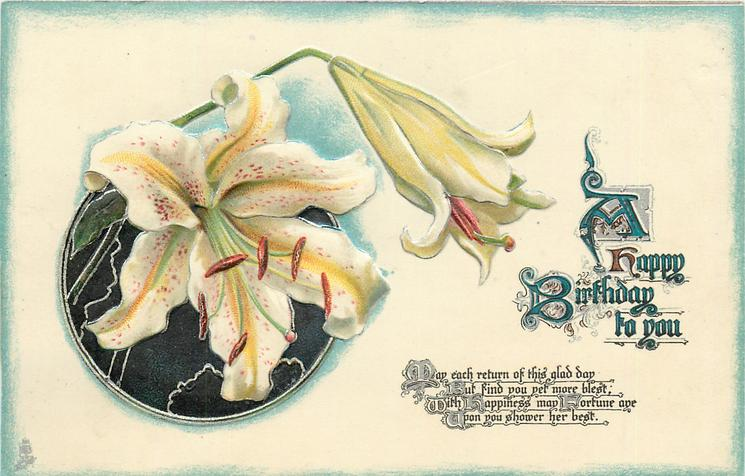 A HAPPY BIRTHDAY TO YOU  Easter lilies