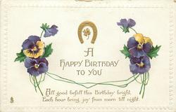 A HAPPY BIRTHDAY TO YOU