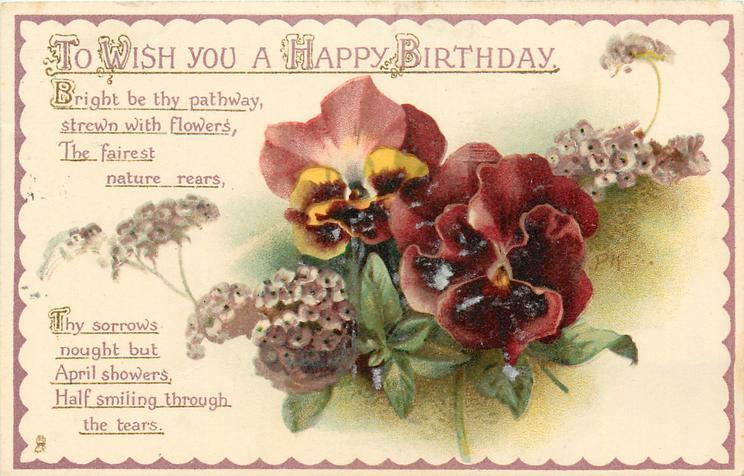 TO WISH YOU A HAPPY BIRTHDAY