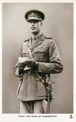 H.R.H. THE DUKE OF GLOUCESTER  in uniform, standing