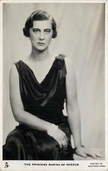 THE PRINCESS MARINA OF GREECE  seated pose