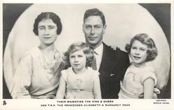 THEIR MAJESTIES THE KING AND QUEEN AND T.R.H. THE PRINCESSES ELIZABETH AND MARGARET ROSE