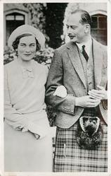 T.R.H. THE DUKE AND DUCHESS OF GLOUCESTER or H.R.H. THE DUKE OF GLOUCESTER AND HIS FIANCEE...BALMORAL CASTLE