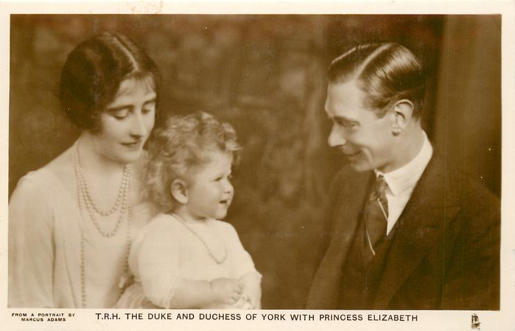 T.R.H. THE DUKE AND DUCHESS OF YORK WITH PRINCESS ELIZABETH