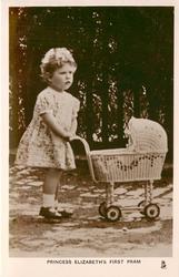 PRINCESS ELIZABETH'S FIRST DOLL PRAM