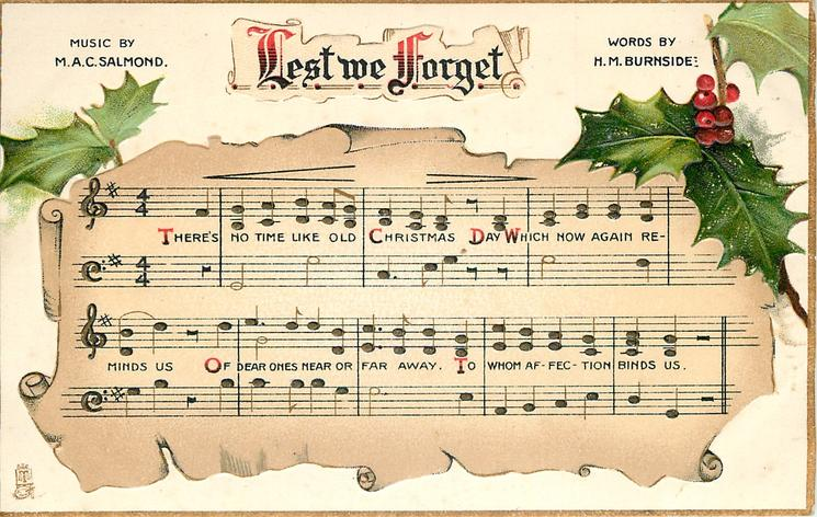Lest We Forget Music Notation Holly Tuckdb Postcards
