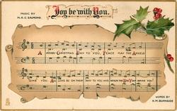 JOY BE WITH YOU music notation, holly
