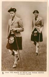 T.R.H. THE PRINCE OF WALES AND PRINCE GEORGE IN HIGHLAND COSTUME