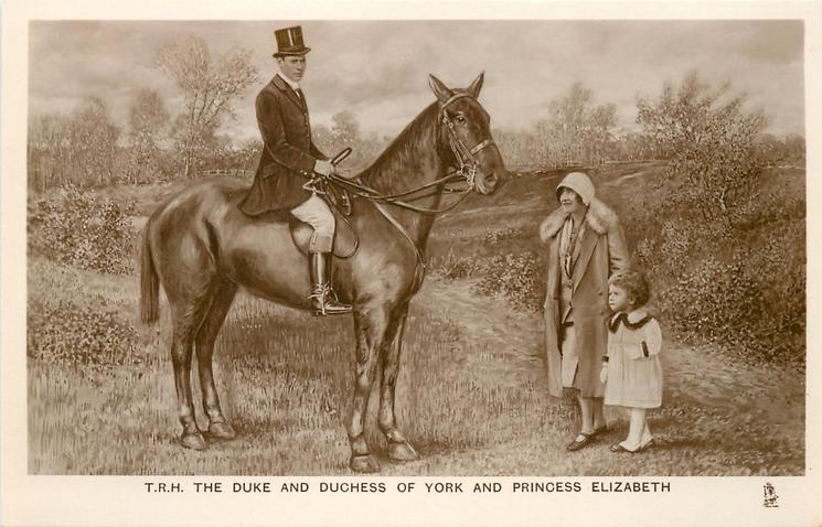 T.R.H. THE DUKE AND DUCHESS OF YORK AND PRINCESS ELIZABETH