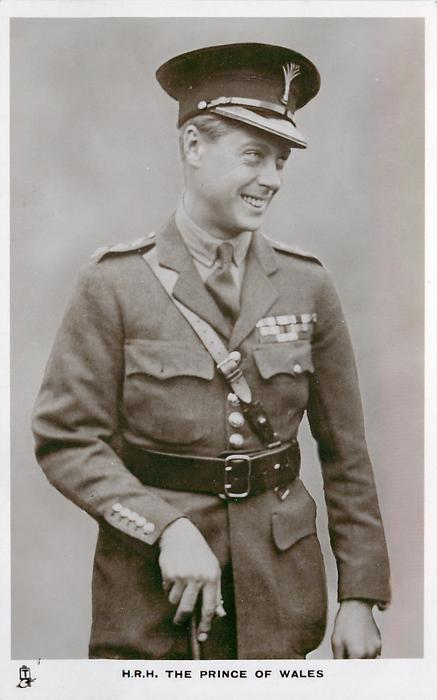 H.R.H. THE PRINCE OF WALES  three quarter length study, in uniform, looking right