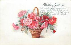 BIRTHDAY GREETINGS  carnations