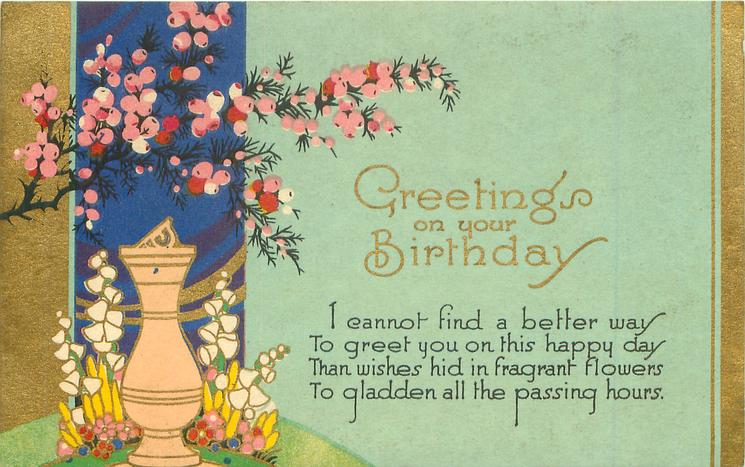 GREETINGS ON YOUR BIRTHDAY
