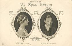 H.R.H. PRINCESS MARY &  VISCOUNT LASCELLES D.S.O. MARRIED WESTMINSTER ABBEY FEB 28TH 1922