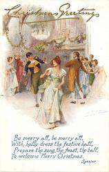old-time Xmas dance, most distant view, verse